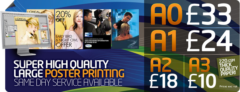 Cheap Online Poster Printing London